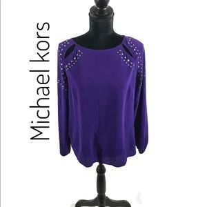 Michael Kors cut out embellished top